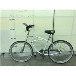 WHITE GIANT SINGLE SPEED BEACH CRUISER BIKE