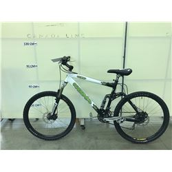 WHITE KONA BEAR  24 SPEED FULL SUSPENSION MOUNTAIN BIKE WITH FRONT AND REAR DISC BRAKES