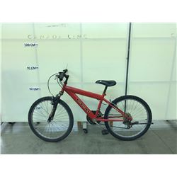 RED CCM VOLT 18 SPEED FRONT SUSPENSION MOUNTAIN BIKE