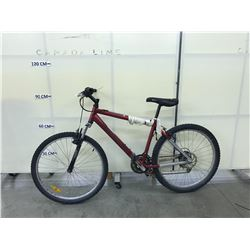 RED CARRERA 21 SPEED FRONT SUSPENSION MOUNTAIN BIKE