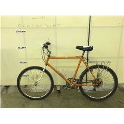 ORANGE ROCKY MOUNTAIN 12 SPEED MOUNTAIN BIKE
