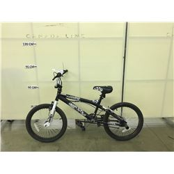 BLACK AND WHITE SUPERCYCLE CHAOS BMX BIKE WITH 2 PEGS AND GYRO
