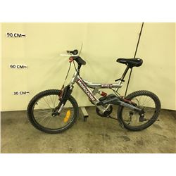 GREY MONGOOSE WIRED FULL SUSPENSION KIDS MOUNTAIN BIKE
