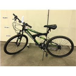BLACK SUPERCYCLE FULL SUSPENSION MOUNTAIN BIKE