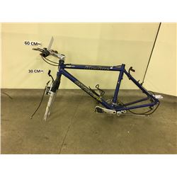 BLUE INFINITY INCLINE MOUNTAIN BIKE, NO WHEELS OR SEAT