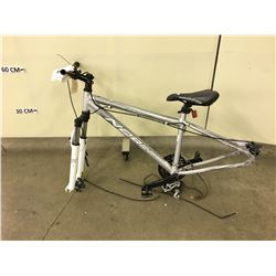 GREY NORCO MOUNTAINEER FRONT SUSPENSION MOUNTAIN BIKE, NO WHEELS
