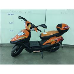 ORANGE GIO ELECTRIC SCOOTER, NO KEYS OR CHARGER,  CONDITION UNKNOWN