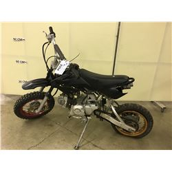 BLACK LONCIN MOTOR BIKE, CONDITION UNKNOWN