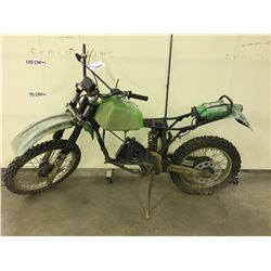 GREEN MOTOR BIKE, NO ENGINE, PARTS ONLY