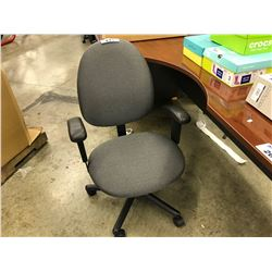 GREY PATTERN FULLY ADJUSTABLE TASK CHAIR