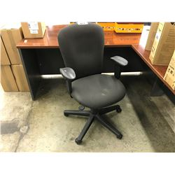 BLACK MID BACK TASK CHAIR, STYLE 2