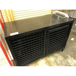 BLACK METAL LOCKING RETAIL STORAGE UNIT