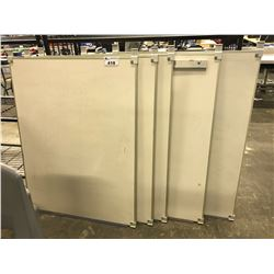 LOT OF 5 WHITE BOARDS
