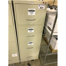BEIGE 4 DRAWER VERTICAL CABINET
