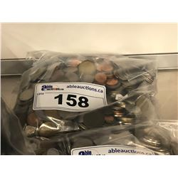 BAG OF ASSORTED FOREIGN COINS
