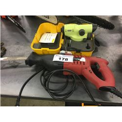 SKIL ELECTRIC RECIPROCATING SAW AND GEOTOP E SERIES LASER LEVEL WITH CASE