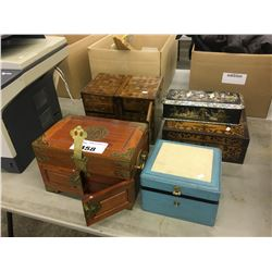 LOT OF ASSORTED JEWELLERY BOXES