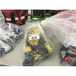 BAG OF DEWALT POWER TOOLS AND ACCESSORIES