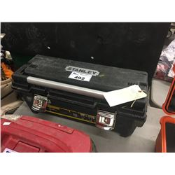 STANLEY TOOL BOX WITH CONTENTS OF ASSORTED TOOLS
