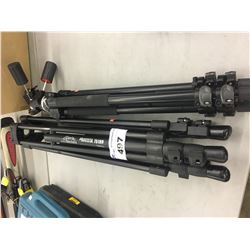 TWO CAMERA TRIPODS