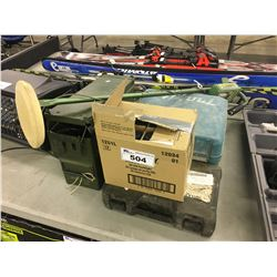 METAL DETECTOR, ASSORTED POWER TOOLS, FLASHLIGHTS AND MORE