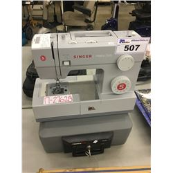 SINGER HEAVY DUTY SEWING MACHINE AND SENTRY SAFE 1120 LOCK BOX