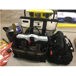 3 TOOL BAGS WITH CONTENTS