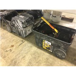 2 TOOL BOXES WITH ASSORTED CONTENTS