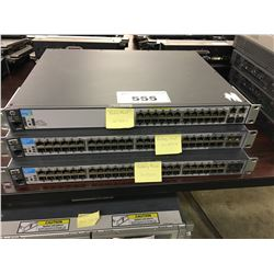 2X HP 52 PORT SWITCHES AND 1X HP 26 PORT SWITCH