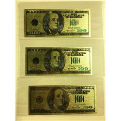 3 - US $100 NOVELTY COLLECTOR BILLS