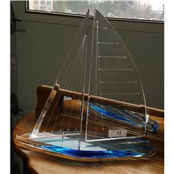 ACRYLIC SAILBOAT SCULPTURE