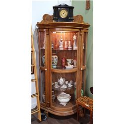 TRIPLE BOW FRONT DISPLAY CABINET