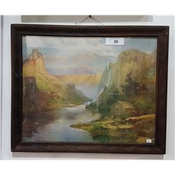 FRAMED PRINT OF A VALLEY