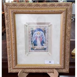 SIGNED LTD EDITION LENA LUI TILE IN GILT FRAME