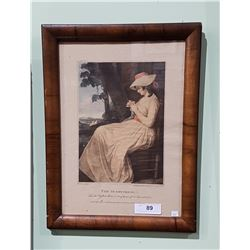 """FRAMED PRINT TITLED """"THE SEAMSTRESS"""""""