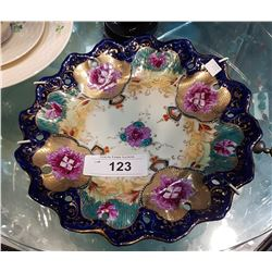 HAND PAINTED DECORATIVE PORCELAIN PLATE