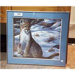 "COUGAR PRINT TITLED ""WINTER OF THE YOUNG"" BY JEENE CHEVELLE"