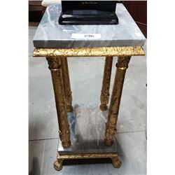 MARBLE TOP GILT STAND