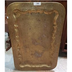 LARGE ASIAN BRASS TRAY
