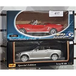 DIE CAST FORD MUSTANG & LEXUS CAR