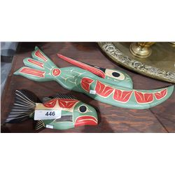 2 CARVED NATIVE WALL PLAQUES
