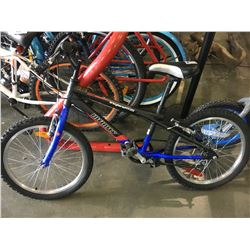 BLUE AND BLACK INFINITY YOUTH MOUNTAIN BIKE