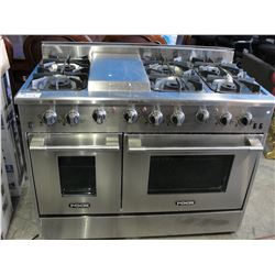 NXR STAINLESS STEEL 6 BURNER GAS STOVE WITH GRIDDLE & CONVECTION OVEN