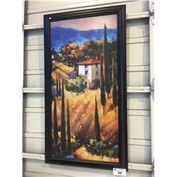 FRAMED CANVAS, HOUSE IN MOUNTAINS