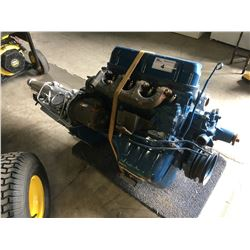 1968 FORD RACING 302 MOTOR WITH TRANSMISSION, C80E-6015A FOUND ON ENGINE BLOCK