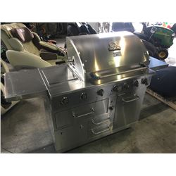 NATURAL GAS NXR STAINLESS STEEL 6 BURNER BBQ WITH SIDE BURNER, ROTISSERIE