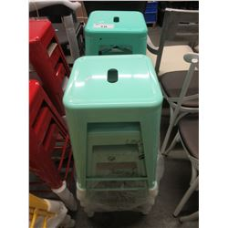 8 TURQUOISE HIGH TOP STOOLS