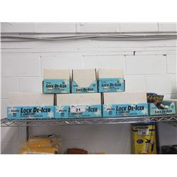 LARGE LOT OF NEW VICTOR LOCK DE-ICER AND LUBRICANT