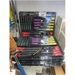 5 NEW 24 PC SCREW DRIVER SETS WITH TRAYS