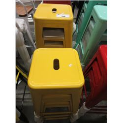 7 YELLOW HIGH TOP STOOLS